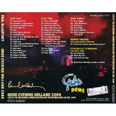 画像2: PAUL McCARTNEY / GOOD EVENING HOLLAND 2009 【3CD】
