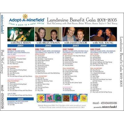 画像2: PAUL McCARTNEY / LANDMINE BENEFIT GALA 2001-2005 【4CD】