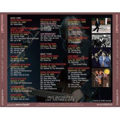 画像2: PAUL McCARTNEY / LIVE ARCHIVES VOL.2 【2CD】