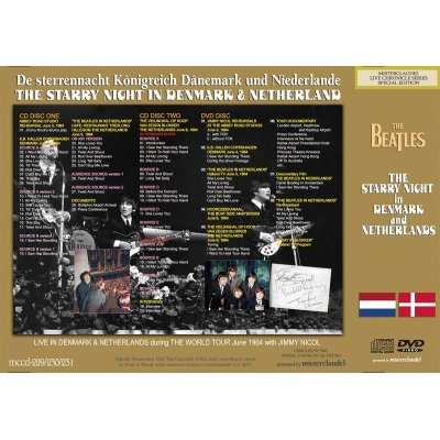 画像2: THE BEATLES / STARRY NIGHT IN DENMARK & THE NETHERLANDS 【2CD+DVD】