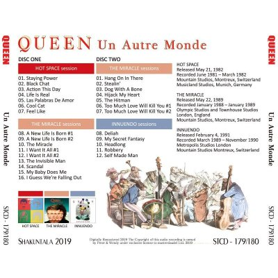 画像2: QUEEN / UN AUTRE MONDE - OUTTAKES & DEMOS - 【2CD】