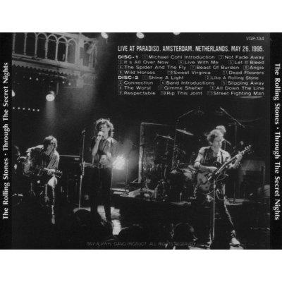 画像2: VGP-134 THE ROLLING STONES / THROUGH THE 2ND NIGHT PARADISO 1995