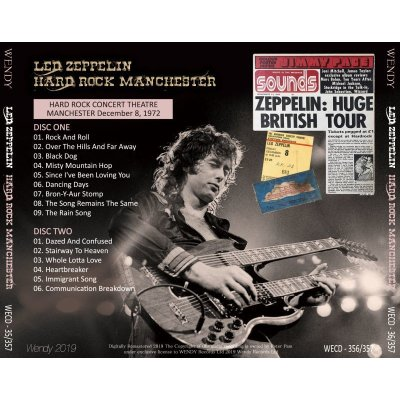 画像2: LED ZEPPELIN / HARD ROCK MANCHESTER 1972 【2CD】
