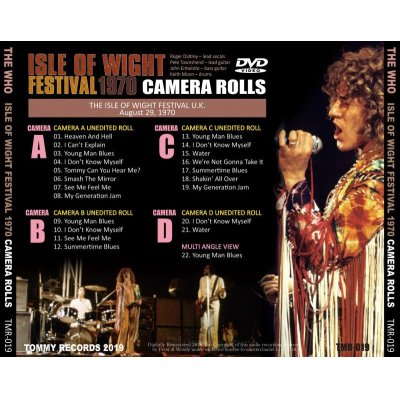 画像2: THE WHO / ISLE OF WIGHT FESTIVAL 1970 CAMERA ROLLS 【DVD】