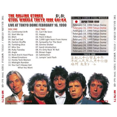 画像2: THE ROLLING STONES / STEEL WHEELS JAPAN TOUR 1990 GAI-KA 【2CD】