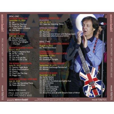 画像2: PAUL McCARTNEY / LIVE ARCHIVES Vol.6 【2CD】