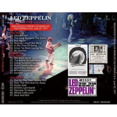 画像2: LED ZEPPELIN / BACK TO THE LA FORUM 1977 3CD