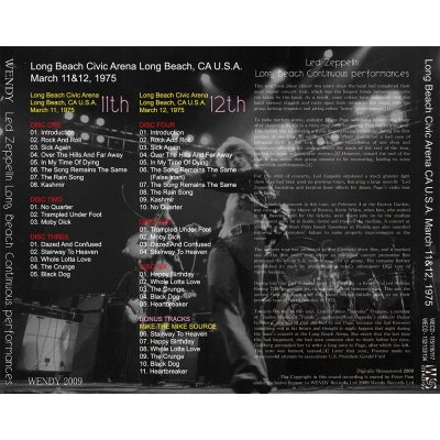 画像2: LED ZEPPELIN / LONG BEACH CONTINUOUS PERFORMANCES 【6CD】