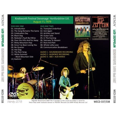 画像2: LED ZEPPELIN / KNEBWORTH 2nd DAY 【2DVD】
