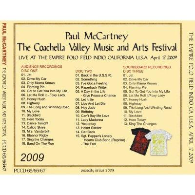 画像2: PAUL McCARTNEY / THE COACHELLA VALLEY MUSIC & ARTS FESTIVAL 【3CD】