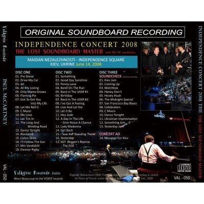 画像2: PAUL McCARTNEY 2008 INDEPENDENCE CONCERT THE LOST SOUNDBOARD MASTER 3CD