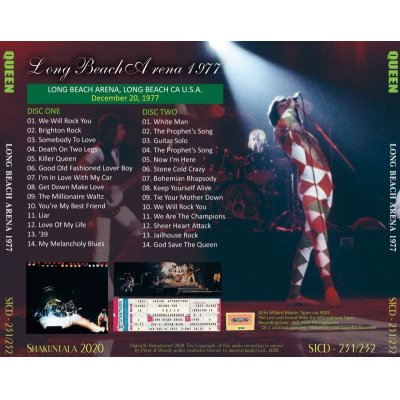 画像2: QUEEN 1977 LONG BEACH ARENA 2CD