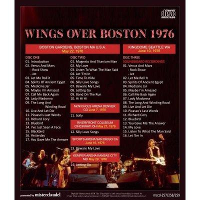 画像2: PAUL McCARTNEY 1976 WINGS OVER BOSTON 3CD