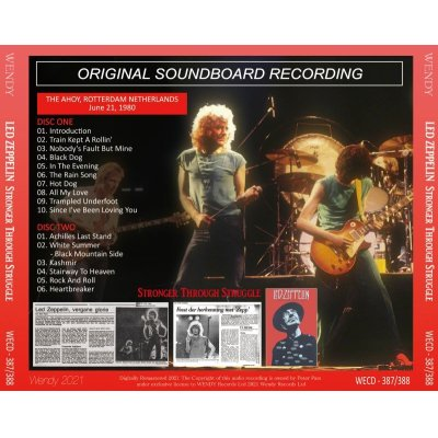 画像2: LED ZEPPELIN 1980 STRONGER THROUGH STRUGGLE 2CD